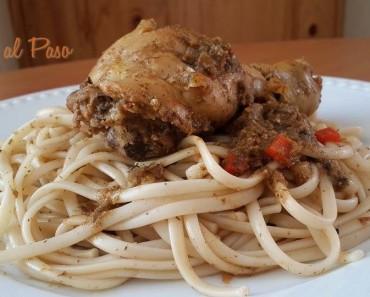 guiso de pollo con tallarines 2