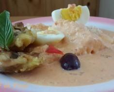 Quinua con yuca  crema de rocoto y pollo deshuesado 2