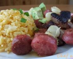 panseta cerdo con chorizo parrillero y arroz amarillo 3