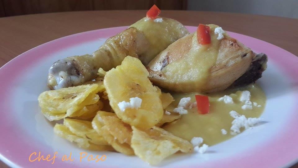 pollo con salsa de mostaza y manzana 3