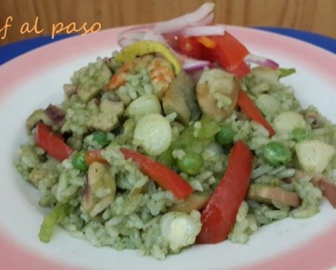 arroz verde con mariscos 3