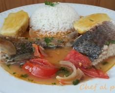 sudadito de pescado con camotes 2