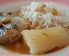 sudado de cachema con arroz blanco 2