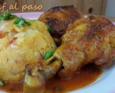 guiso de pollo con majado de yuca 2