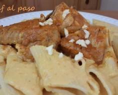 macarrones con pollo en salsa a la huancaina 7