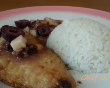 pescado en salsa de pasas 7