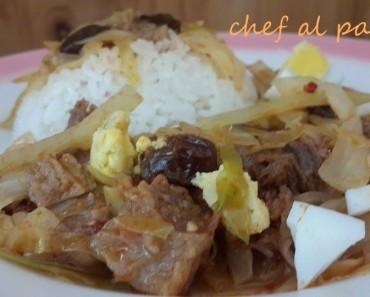 guiso con repollo y arroz blanco 2