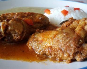 guiso de alitas de pollo con espesado de choclo