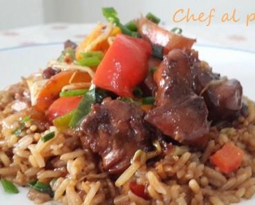 Pollo Kung Pao con arroz chaufa 2