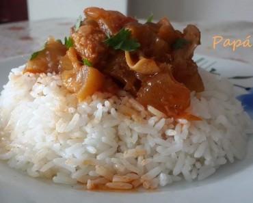 arroz blanco con guiso de pata de res 3