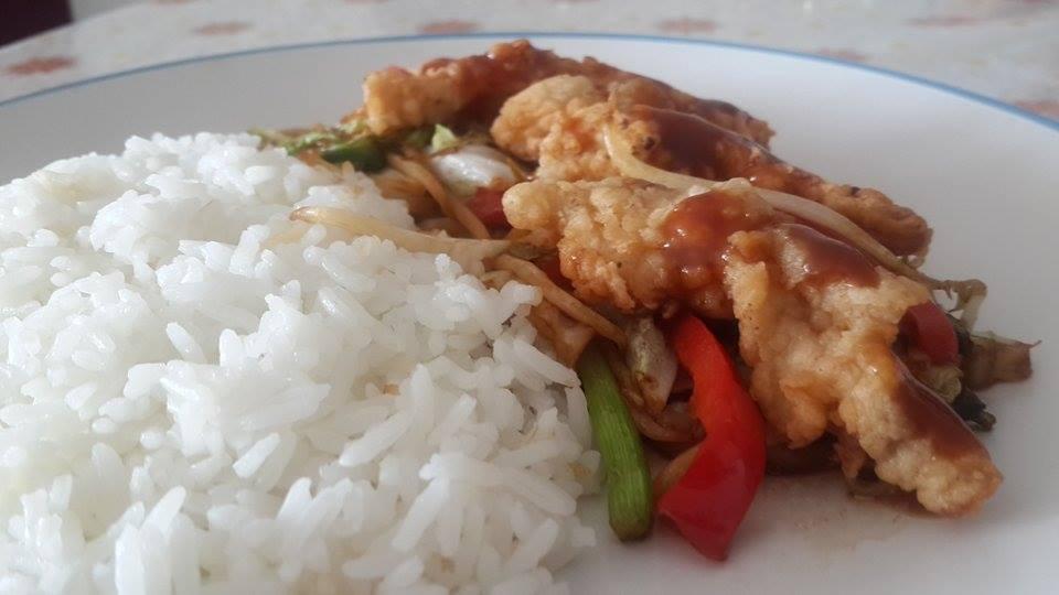 fajitas de pollo en salsa agridulce 3