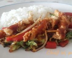 fajitas de pollo en salsa agridulce 4