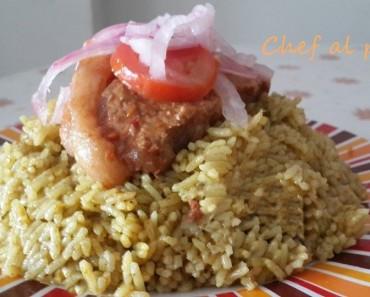 guiso de chancho  con arroz verde 4