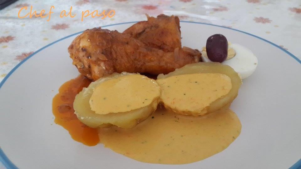 picante de pollo con papa a la huancaina 4