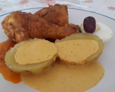 picante de pollo con papa a la huancaina 5