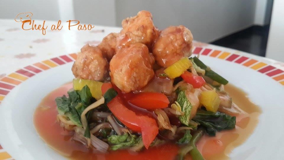 pollito rebozado en salsa oriental 6