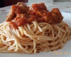 tallarin con pollo en salsa de tomate 3