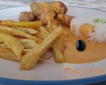 chicharrón de toyo con papa fritas y salsa a la huancaina 4