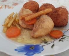 croquetas de arroz con pollo a la naranja 3