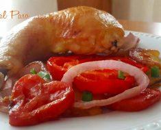 Pollo al horno con verduras asadas 3