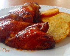alitas de pollo al horno con patatas fritas 2