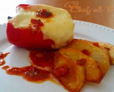 pimiento relleno con patatas fritas 4