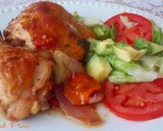 pollo  al horno a la naranja con ensalada 4