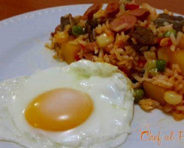 calentadito de arroz con chanfainita 4