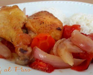 piernas de pollo al horno con verduras 2