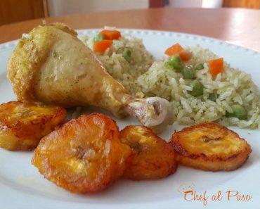 arroz-verde-con-pollo-y-platanos-maduros-2