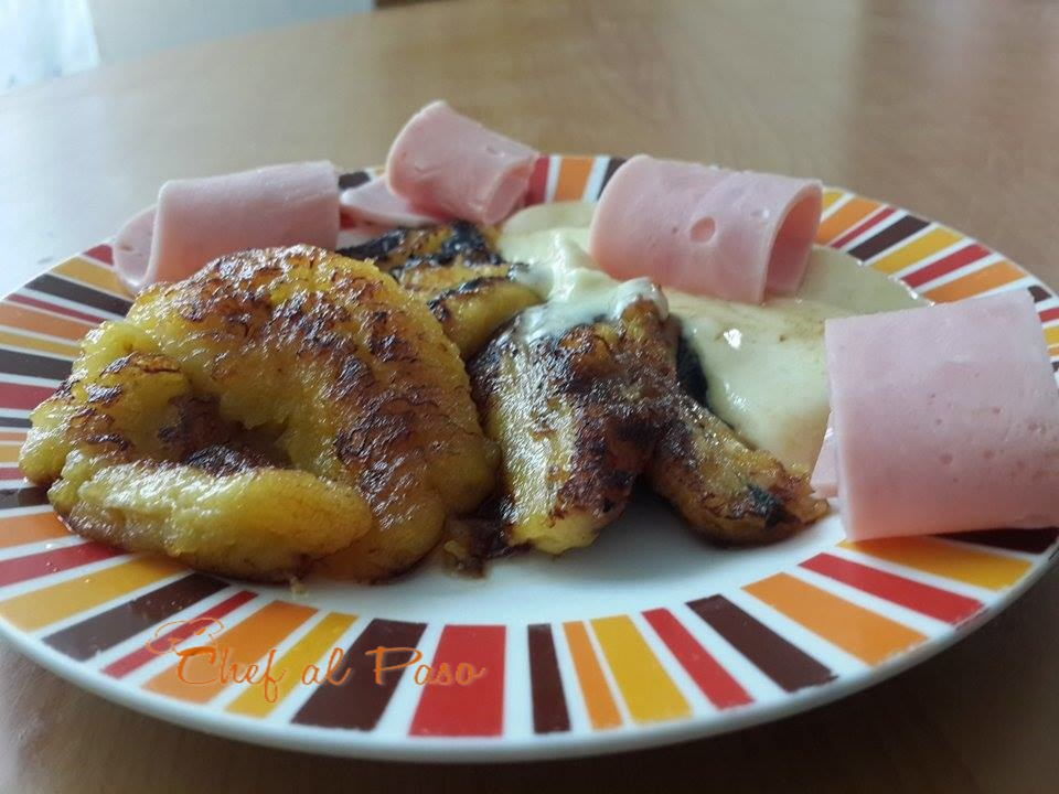 platano-maduro-con-queso-mozzarella-y-jamon-2