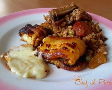 arroz con costillas de cerdo y platanos maduros 2