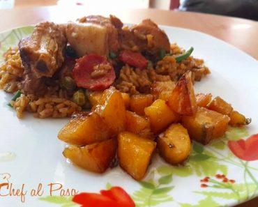 arroz con panceta de cerdo y maduros 2