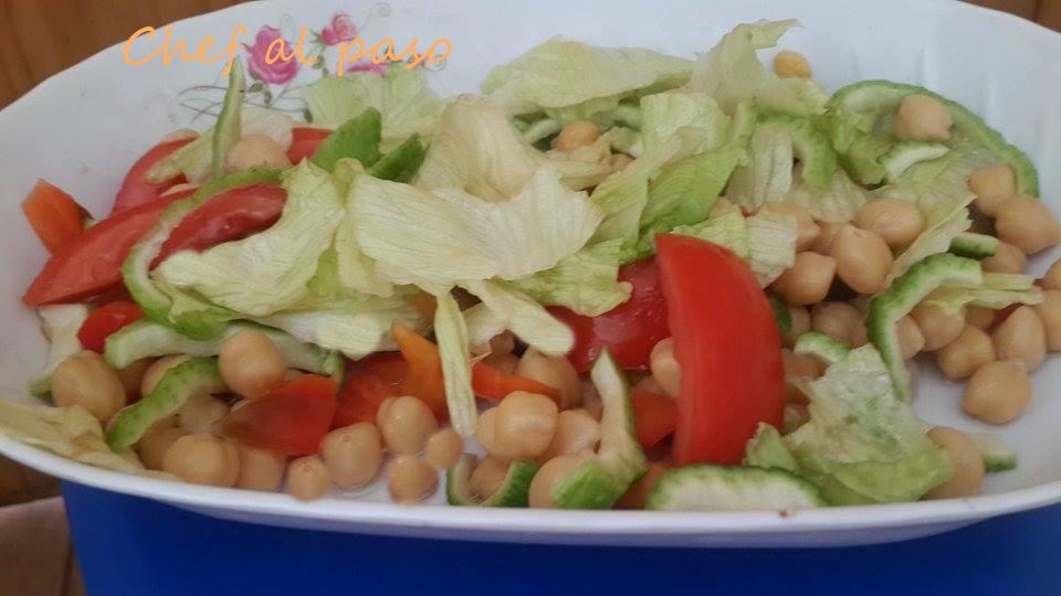 ensalda de garbanzo con verduras 3