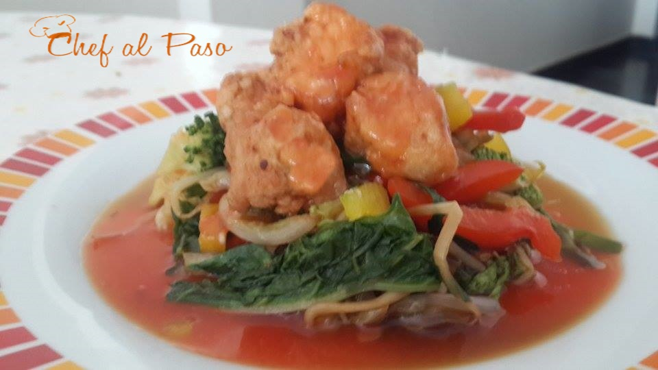 pollito arrebozado en salsa oriental 7